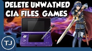 3DS How To Delete CIA Files, Games, Software, Apps (Increase Blocks!)
