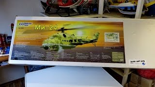 Teil 1 RC Projekt Mil Mi-24 Hind T-Rex 600 Russian Helicopter , Unboxing *HD*