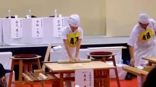 2016.11.20第21回全日本素人そば打ち名人大会、21代名人…47番岸本直子さん