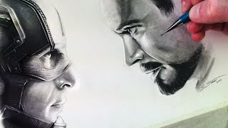 Captain America: Civil War Drawing - Fan Art Time Lapse