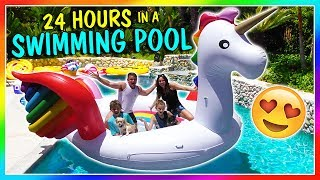 24 HOURS IN OUR SWIMMING POOL | We Are The Davises