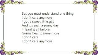 Chris Rea - I Don't Care Any More Lyrics