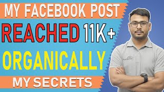 Facebook post Reached 11000 Organically   My Content Strategy   (in Hindi)