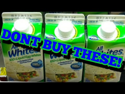 Don't buy egg whites in a carton.