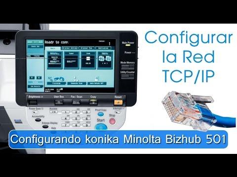Configurando konika minolta 501 bizhub en red TCP/IP