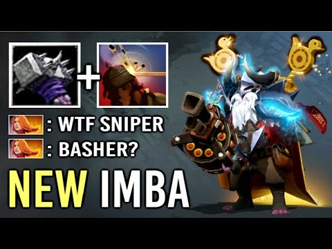 NEW IMBA Basher Sniper Mid vs Lina Megabash + Headshot Crazy Gameplay by Bryle Top Rank Dota 2