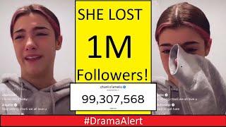 Charli D'amelio CRYING after Losing 1 Million Followers! #DramaAlert Logan Paul vs Austin Mcbroom!