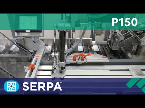 P150 Intermittent cartoner running liquid-filled bags – Serpa Packaging Solutions