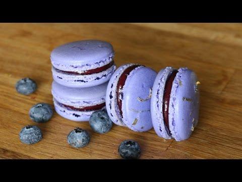 Blueberry Lemon French Macarons | sweetco0kiepie