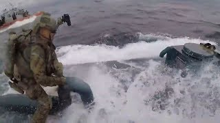 video: Drama on the high seas as suspected 'narco-submarine' boarded by US Coast Guard