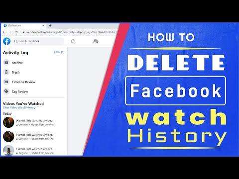 How to Delete Facebook Watched Videos History