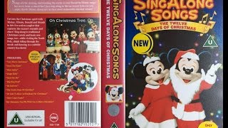 Sing Along Songs   The Twelve Days Of Christmas [UK VHS] (1994)