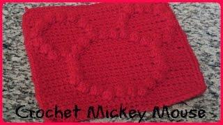 CROCHET BOBBLE STITCH MICKEY MOUSE