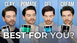 Clay, Pomade, Gel Or Cream?   Mens Hair Product Guide
