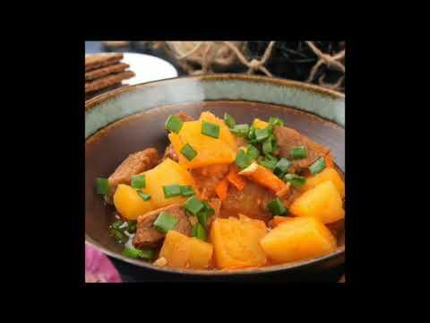 Тушёная говядина с картофелем 🥩🥔 |  Рецепт тушеной говядины с картофелем