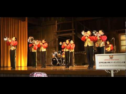 東京ディズニーランド ラッキーナゲットステージにて演奏 五戸町立南小学校マーチングバンド