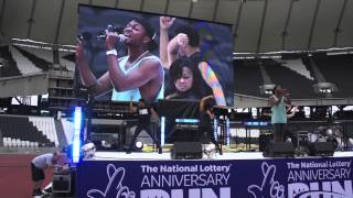 J-Sol Live At National Lottery Run In The Olympic Stadium