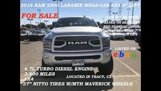 "2018 Ram 2500 Laramie Mega Cab 4x4 Turbo Diesel Engine 6"" Lift FOR SALE"