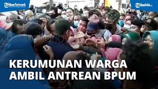 Viral Video Warga Berkerumun Ambil Nomor Antrean BPUM di Sukoharjo dan Abai Prokes, Begini Faktanya