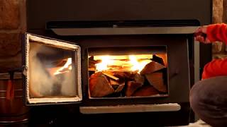 How to start a fire in a Blaze King Wood Stove?