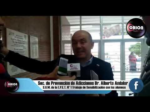 Nota al Dr. Alberto Andalor. Secretario de Prevención de Adicciones.