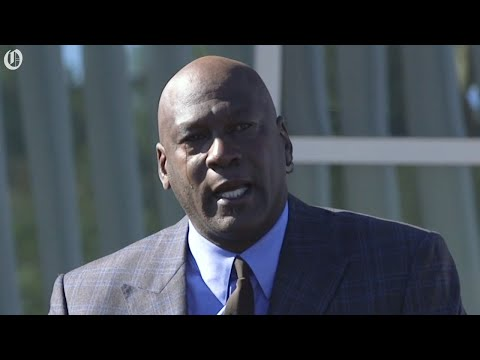 Michael Jordan sheds tears at the opening of Novant clinic in Charlotte