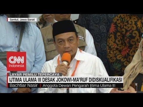 Ijtima Ulama III Desak Jokowi-Ma'ruf Didiskualifikasi
