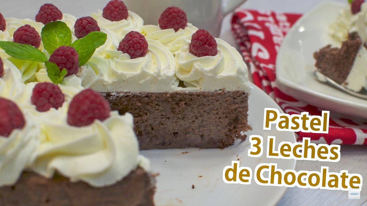 Pastel 3 Leches de Chocolate | Tarta tres leches | Receta Torta 3 leches paso a paso | 3 Leches Cake