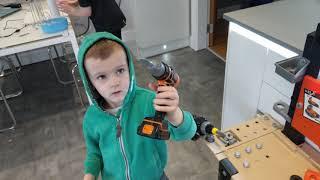 #TOYTIME Alfie's Smoby Kids Black and Decker Workshop