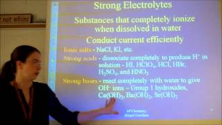 Chapter 4 (Types Of Chemical Reactions And Solution Stoichiometry) - Part 1