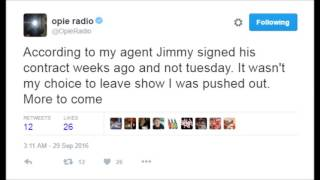 JIMMY RESPONDS TO OPIE 9/29/16 (Featuring Opie's passive aggressive tweets)