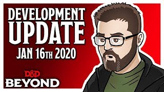 D&D Beyond Dev Update - Explorer's Guide To Wildemount Pre-orders, Encounter Tracking & More