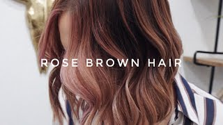 New Trend For FALL! Rose Brown Hair, Full How To Video!