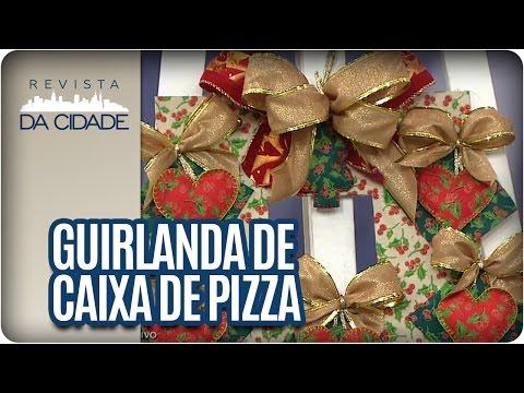 Guirlanda com caixa de Pizza