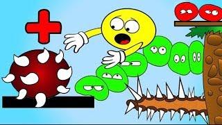 Как менялся ЖЕЛТЫЙ ПУЗЫРЬ #9 Колючки ЛОПАЮТ Желтые пузыри Острые ШИПЫ