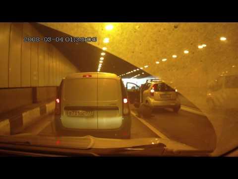 Столкновение двух автоледи на ТТК в Москве