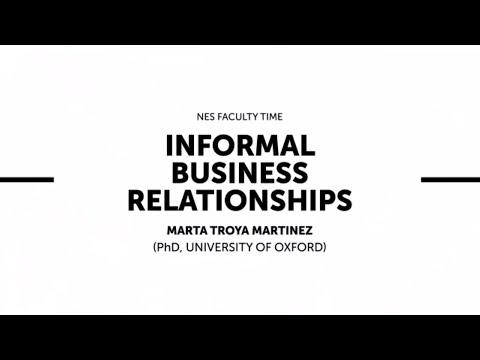 """Лекция профессора РЭШ Марты Тройи Мартинез """"Informal Business Relations"""""""