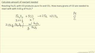 Calculate Amount Of Reactant Needed (Example)