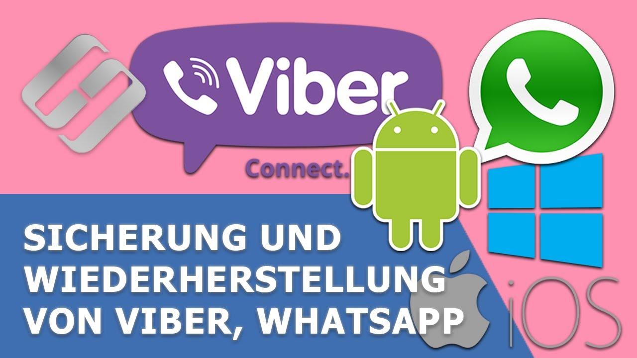Sicherung und Wiederherstellung von Viber, WhatsApp auf einem PC, Android oder iOS