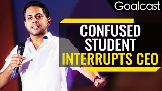 CEO Teaches Student How To Make The Right Decision | Vishen Lakhiani | Goalcast
