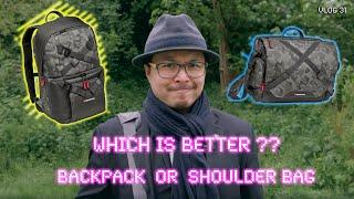 Which is BETTER? Backpack or Shoulder Bag - Red35 Vlog 31