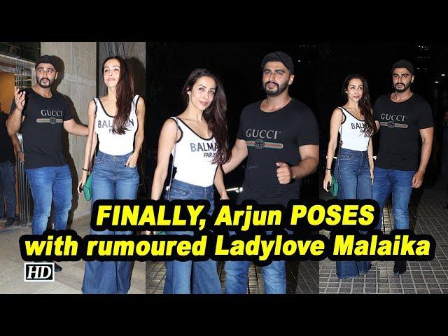 FINALLY, Arjun POSES with rumoured Ladylove Malaika