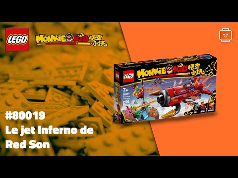 Vidéo LEGO Monkie Kid 80019 : Le jet Inferno de Red Son
