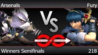 IaB! 218 - TLOC | Arsenals (Wolf) vs Fury (Marth) Winners Semifinals - PM