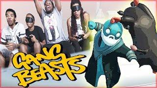 NEW TWIST! BLINDFOLDED 1V1 BLIMP BATTLE! - Gang Beasts Gameplay