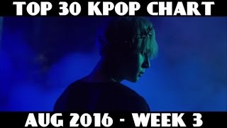 TOP 30 KPOP CHART - AUGUST 2016 WEEK 3 (11 NEW SONGS)