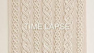 TIME LAPSE | DIY Macrame Wall Hanging | 마크라메 월 행잉