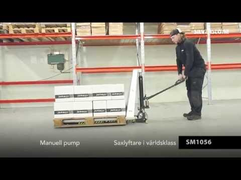 Kraftig manuel sakseløfter 1190 mm