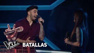 """Javier vs Natalia - """"El día que me quieras"""" - Gardel - Batallas - La Voz Argentina 2018"""