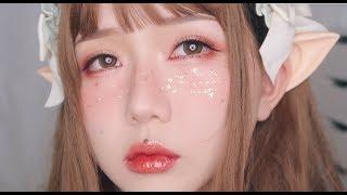 🍑 Peachy 🌸 Spring ✨ Fairy Makeup Tutorial 💄